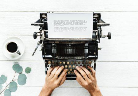 Old typing maschine