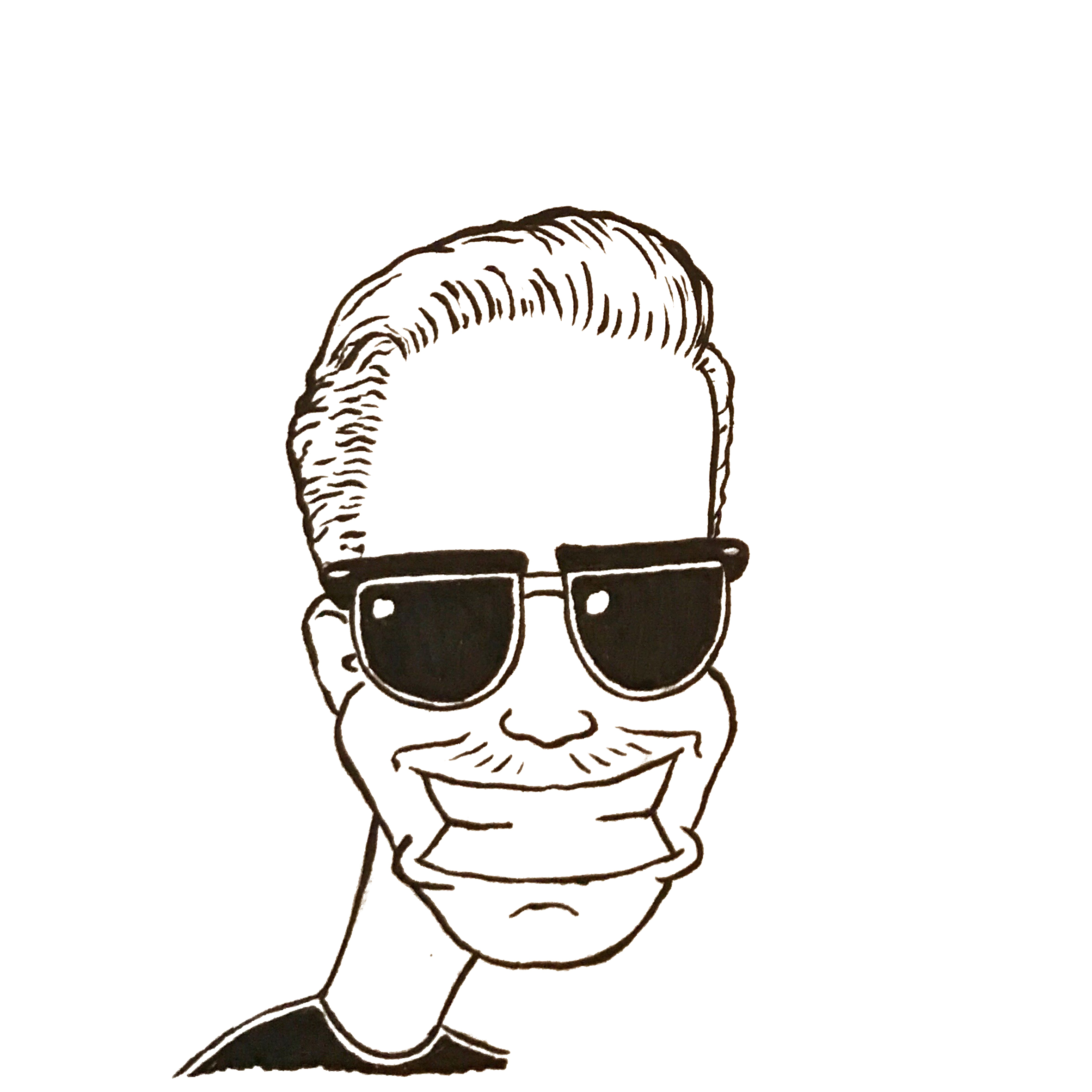 Tegneseriefigur av daglig leder