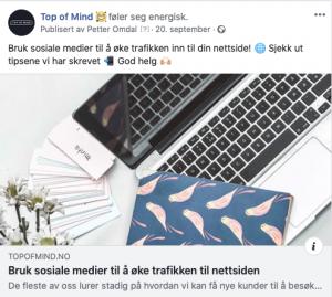 Screenshot facebook post